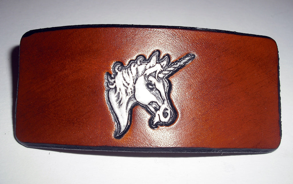 Unicorn Leather French Barrette