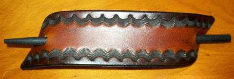 Extra Large Two Toned Leather Stick Barrette
