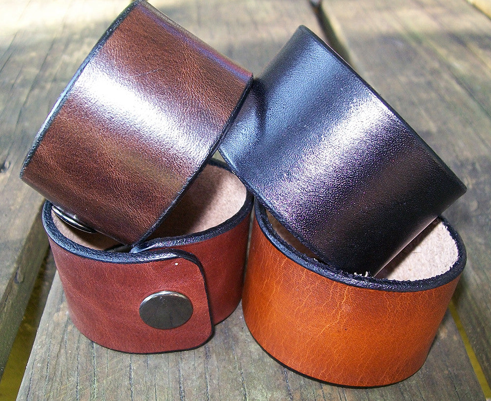 Snap Leather Wrist Cuffs