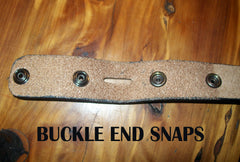 Snaps Leather Belt