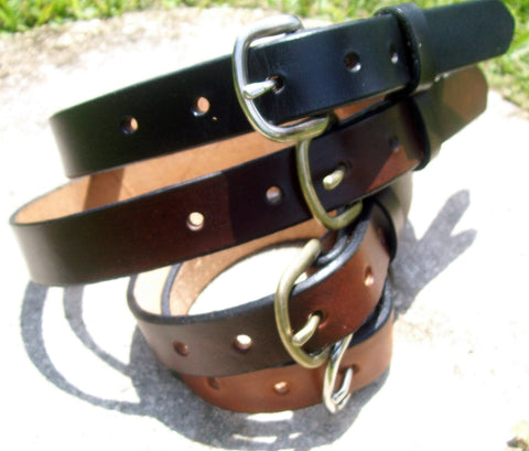 Handmade Leather Belts for Children | Solid Plain Colors
