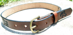 Leather Name Belt for Children