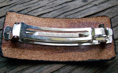 Leather French Barrette clip