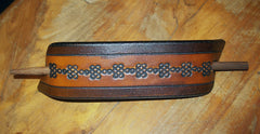 Celtic Knot Extra Large Leather Stick Barrette