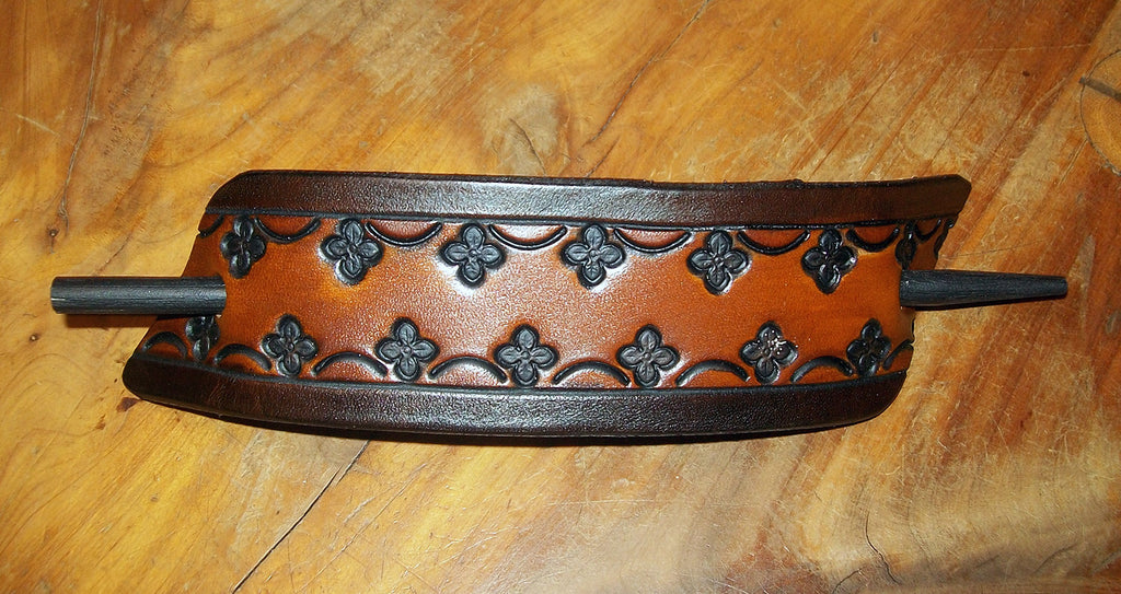Extra Large Leather Stick Barrette