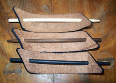 Large Leather Stick Barrettes