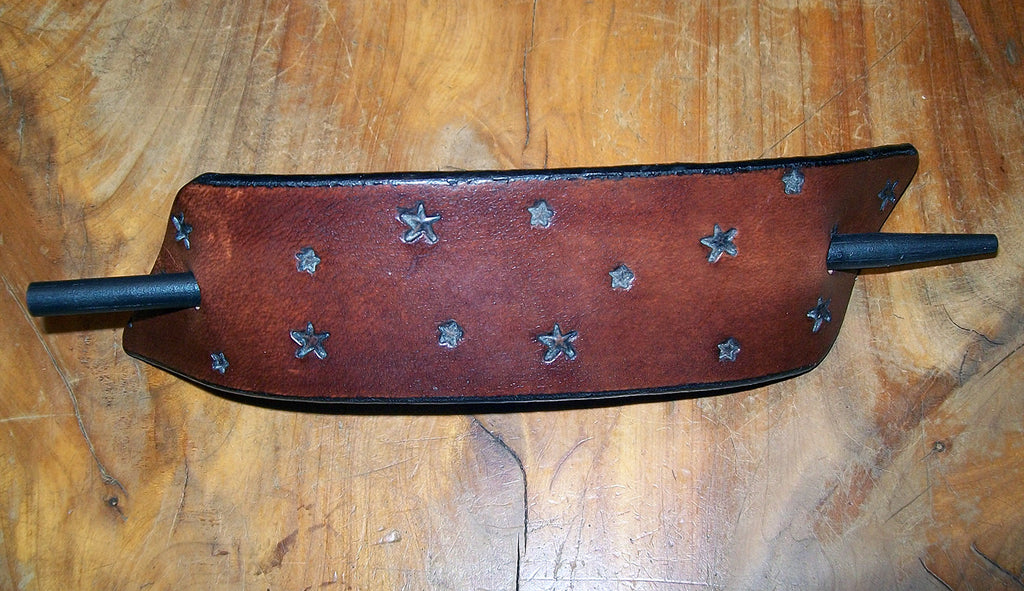 Leather Stars Barrette by Old School Leather Co.