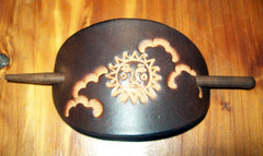 Celestial Sun Leather Barrette