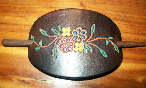 Wildflowers Leather Ponytail Holders