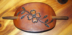 Tooled Leather Barrette