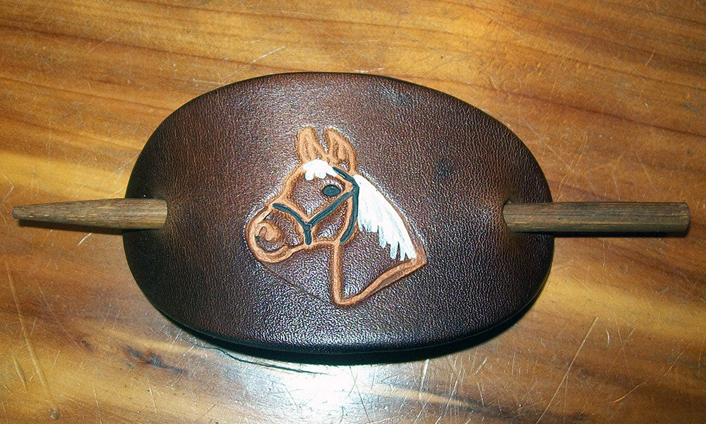 Barrette with Horses