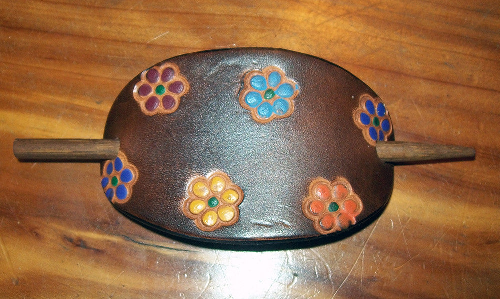 Retro Leather Barrette