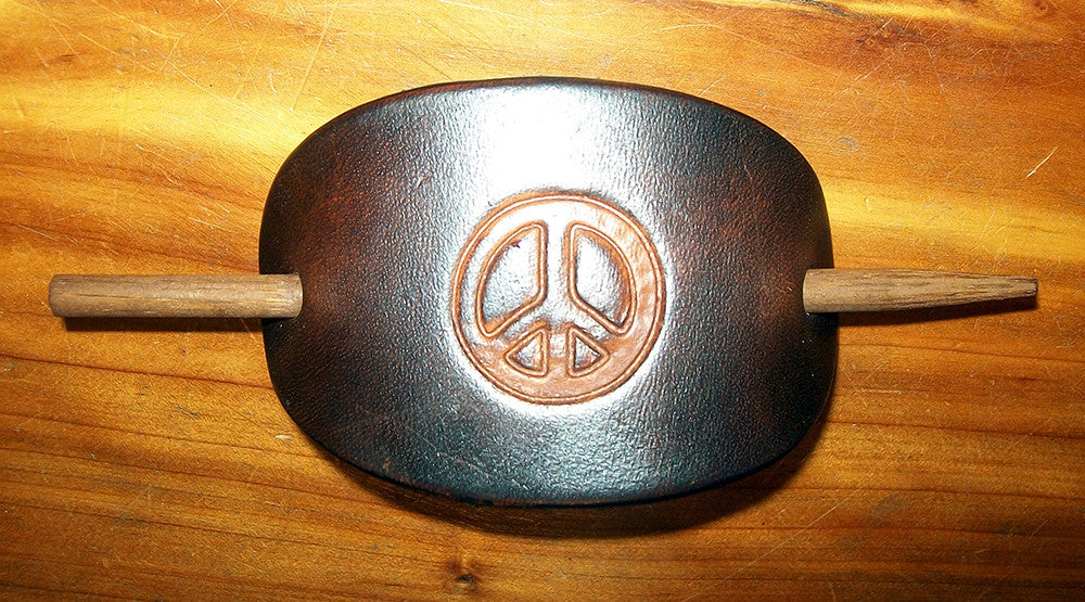 Hippy Leather Barrette