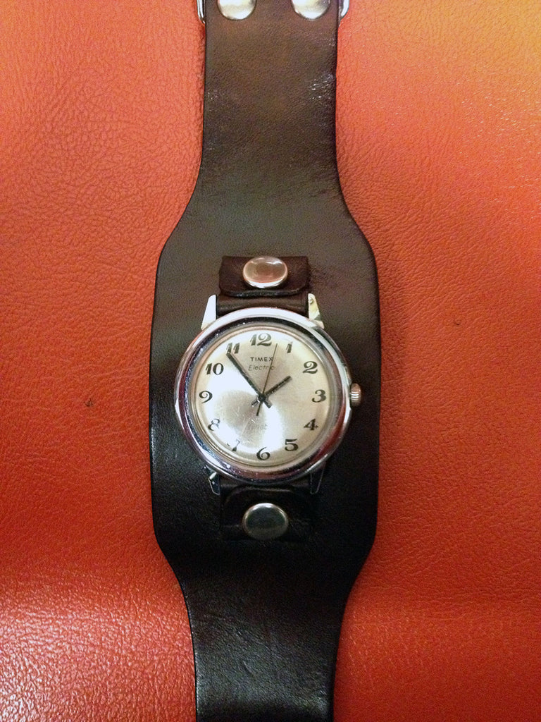 Wide Leather Watch Straps 2 Inch Old School Leather Co