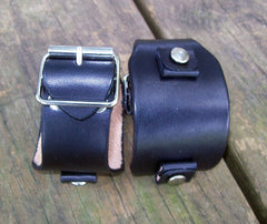 Black Leather Watch Bands