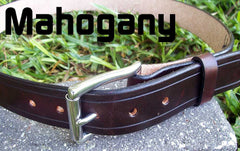 Mahogany Leather Belt