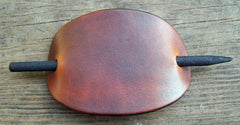 Tan Leather Barrette