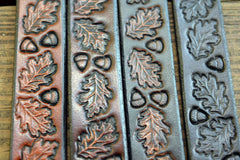 Vintage Tooled Oak Leaf Design