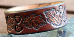 Oak Leaf Leather Wristband