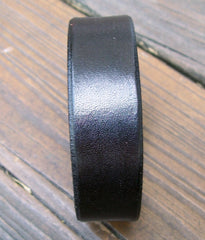 Skinny Black Leather Bracelet