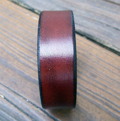 Mahogany Leather Wristband