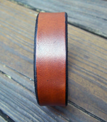 Tan Leather Name Bracelet