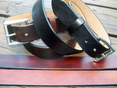1.5 Inch Plain Leather Belts