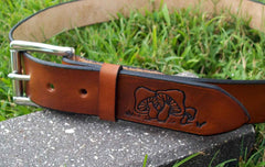 Retro Mushroom Handmade Leather Belt