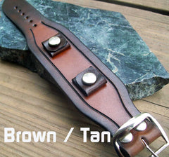 Two Tone Leather Watch Strap