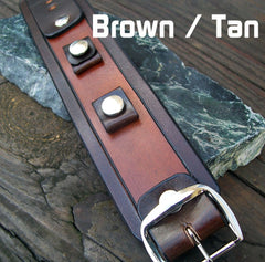 Two Tone Leather Watch Band