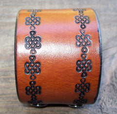 Leather Snap Wrist Cuff