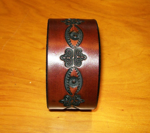 "Handmade ""Dark"" Design Leather Wrist Bracelets 