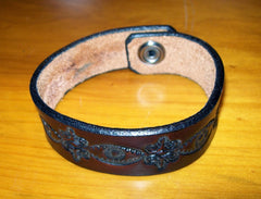 Tooled Leather Wrist Cuff