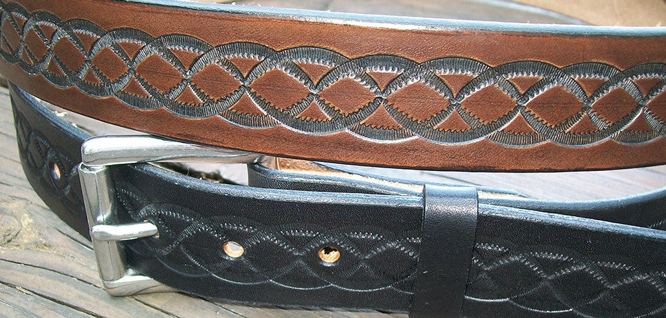 Tooled Leather Belts