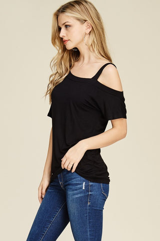 63905a6617305 One Side Cold Shoulder Top – The Closet Monster