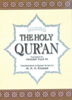The Qur'an with Arabic text, English translation & transliteration (Roman Script)