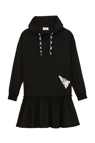 Hoodie Dress Kitty Pocket