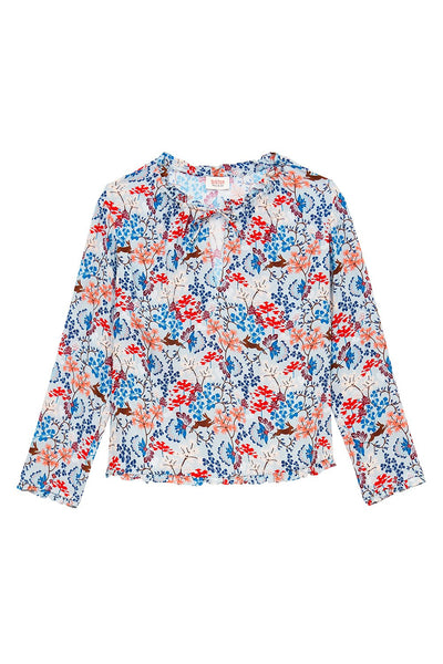 Hidden Bunny Sky Blue Blouse