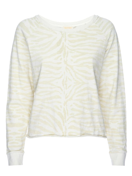 Tiger Print Off White Long Sleeve