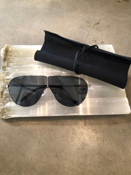 Large Black Aviator Phillip Lim