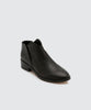 black slip on bootie