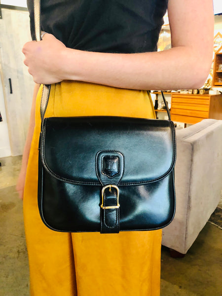 Vintage Celine Leather Crossbody Bag