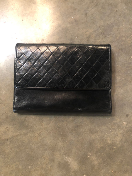 Vintage YSL Leather Clutch
