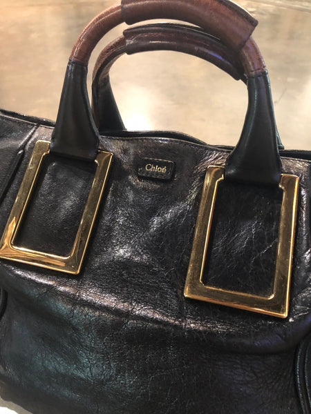 Black vintage Chloe satchel bag