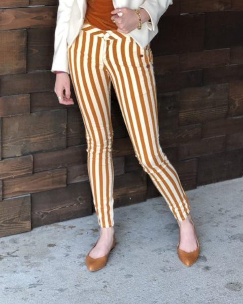 Bold stripe pants