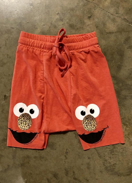 Leopard Elmo Drop Crotch Shorts