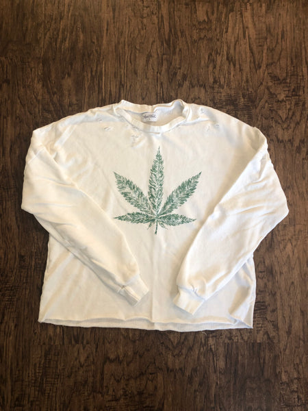 Lauren Moshi Hemp leaf sweatshirt