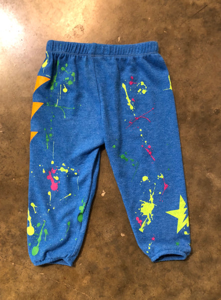 Blue Splatter Sweatpants