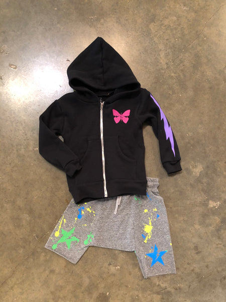 Lightning Butterfly Zip-Up Hoodie