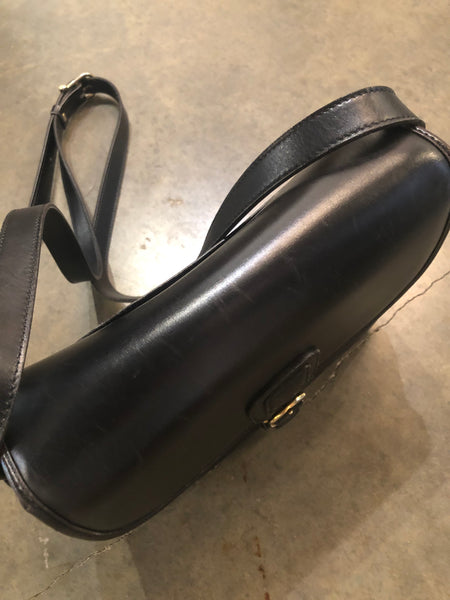 Black vintage shoulder bag by Celine